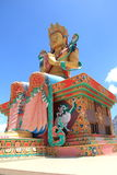 Large Buddha Statue in Ladakh. royalty free stock image
