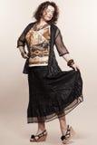 Large build caucasian woman spring summer fashion Stock Image