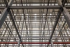 The large building structures made with steel stock photos