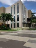 A large building under renovation stock images