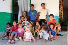 Large Bulgarian Roma gypsy family Royalty Free Stock Photo