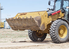 Large bulldozer on construction site Stock Images