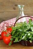 Large bunch of arugula green salad Stock Photography