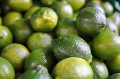 Large bunch of fresh green limes Stock Photo