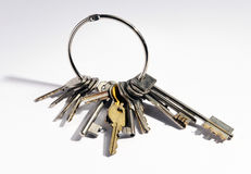 Large bunch of mixed keys Royalty Free Stock Image