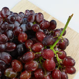 The large bunch of ripe red grapes Stock Photo