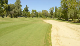 Large bunker golf Stock Photography