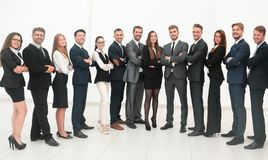 Large business team isolated on white background. Photo with copy space Stock Photos