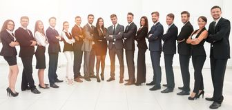 Large business team isolated on white background. Photo with copy space Stock Image