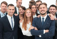 Large business team of professionals. Royalty Free Stock Photo