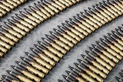 Free Large-caliber Ammunition In The Belt For An Automatic Gun Royalty Free Stock Photo - 195329975