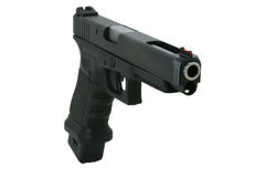 Large caliber pistol Stock Photo