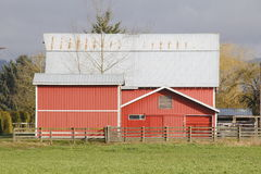 Large Canadian Barn Stock Photo