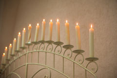 Large candle, the candle in the long term Royalty Free Stock Image