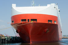Large car carrier ship Royalty Free Stock Images