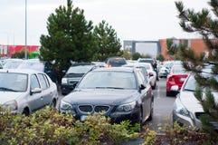 Large car parking Stock Images