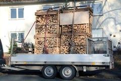 Large Car trailer Stock Photography