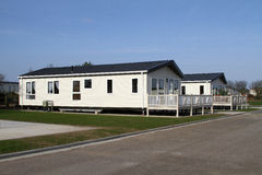 Large caravan site lodge. Stock Photos