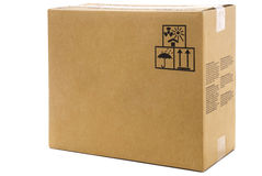Large cardboard box Stock Photography