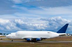 Large cargo plane on runway Stock Photo