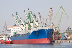 Large cargo ship Royalty Free Stock Photography