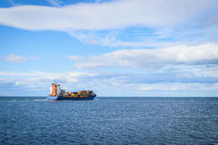 Large cargo ship sailing Royalty Free Stock Photography
