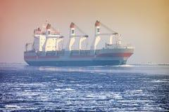 Large cargo ship Royalty Free Stock Photo