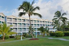Large Caribbean Hotel Complex Royalty Free Stock Photography