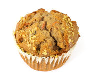 Large carrot cake muffin Royalty Free Stock Photography