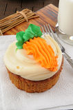 Large carrot cupcake Royalty Free Stock Image