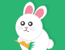 Bunny Holding Carrot Stock Images