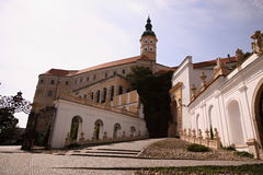 Large castle with signle tower Royalty Free Stock Images