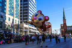 Large Cat Balloon in Holiday Parade Royalty Free Stock Photo