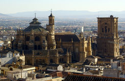 The large cathedral of Granada Royalty Free Stock Photography