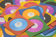 Large CD Pile. Many Discs in Cases in a large Messy Pile Royalty Free Stock Photo