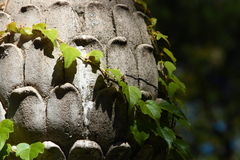 Large Cement Pineapple Finial Close-UP Stock Photos