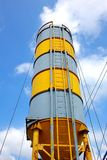 Large Cement Silo Stock Photo