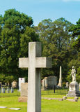 Large Cemetery Cross Stock Photography