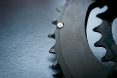 Large chainring of bike Stock Photos