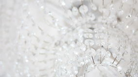 Large chandelier of glass with part stock footage