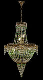 Large chandelier with green crystals isolated on black background. Luxury royal expensive chandelier for living room, Hall of celebration Royalty Free Stock Photography