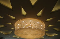 Large chandelier. Round - modern design Royalty Free Stock Photos