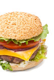 Large Cheeseburger Stock Images