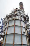 Large chemical capacity, the oil refinery. Large chemical capacity at the oil refinery. New equipment Royalty Free Stock Photography