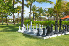 Large Chess Board Royalty Free Stock Photography
