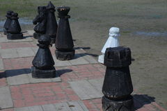 Large Patio Chess Set · Large Chess Stock Image