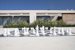Large chess games in the park Royalty Free Stock Image