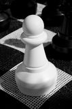 Large Chess piece. A Large plastic Garden Chess Piece (Pawn) in Monochrome Royalty Free Stock Image