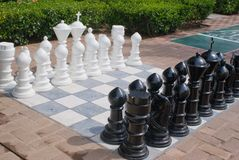 Large Chess Pieces Royalty Free Stock Photography