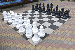 Large chess pieces Stock Photos